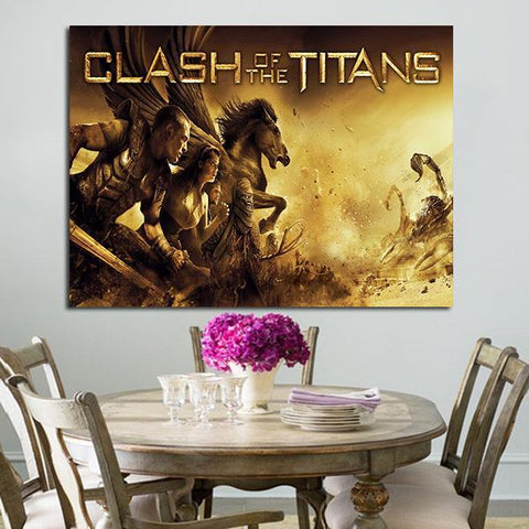1 Panel Clash Of The Titans Perseus And Team Fights Wall Art Canvas