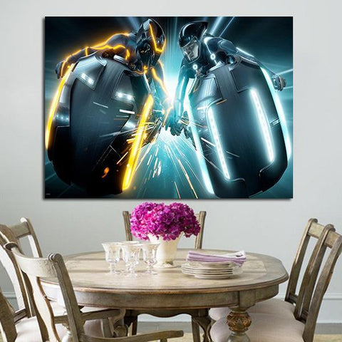 1 Panel Blu-ray Tron Legacy Wall Art Canvas