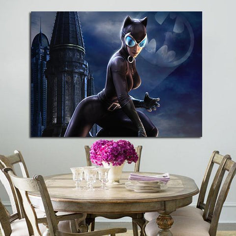 1 Panel Catwoman Dc Universe Wall Art Canvas