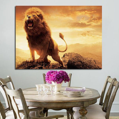 1 Panel Aslan Character Of The Chronicles Of Narnia Wall Art Canvas