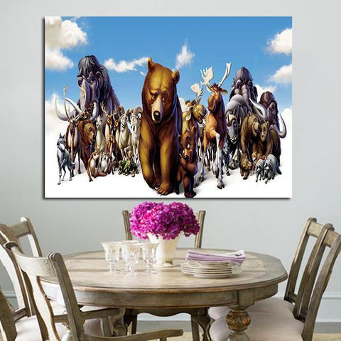 1 Panel Brother Bear Bears And Animals Snow Wall Art Canvas
