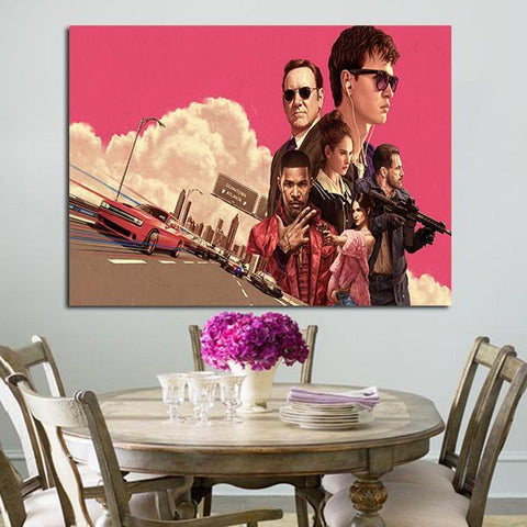 1 Panel Baby Driver 2017 Wall Art Canvas