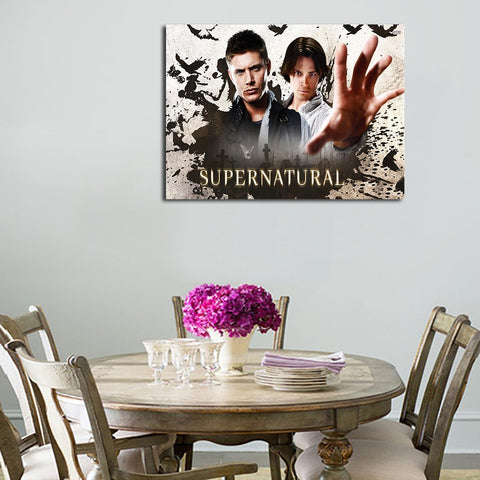 1 Panel Dean And Sam Background Wall Art Canvas