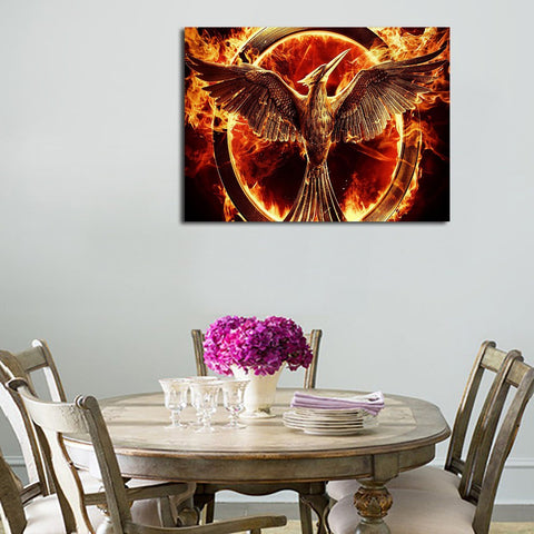 1 Panel Bird And The Ring Of Fire Wall Art Canvas