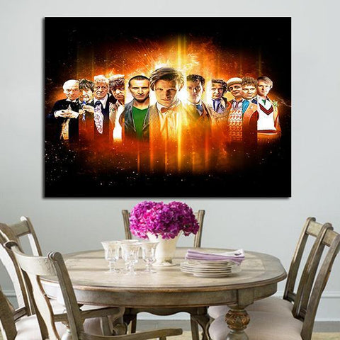 1 Panel Doctor Who All Doctors Wall Art Canvas