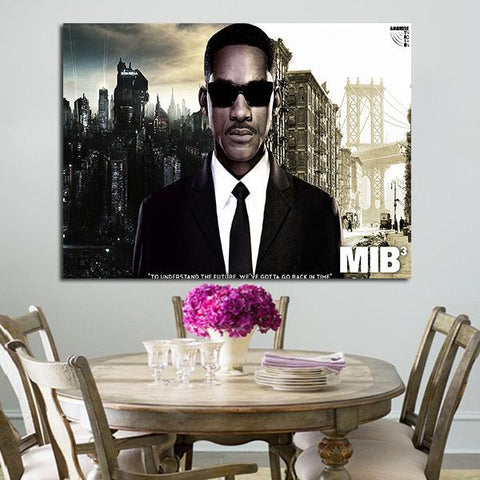 1 Panel Agent J Men In Black 3 Wall Art Canvas