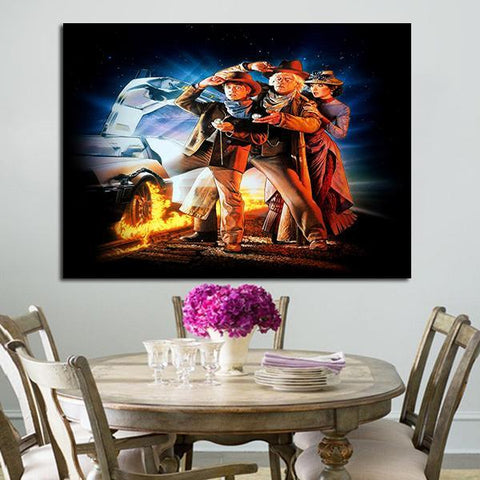1 Panel Back To The Future 3 Wall Art Canvas