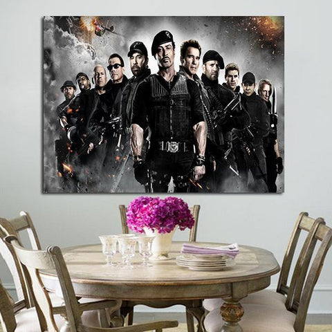 1 Panel All Characters Of The Expendables Wall Art Canvas