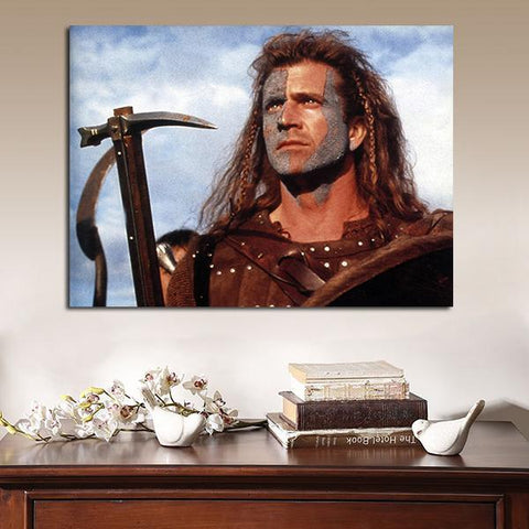 1 Panel Braveheart William Wallace Freedom Wall Art Canvas