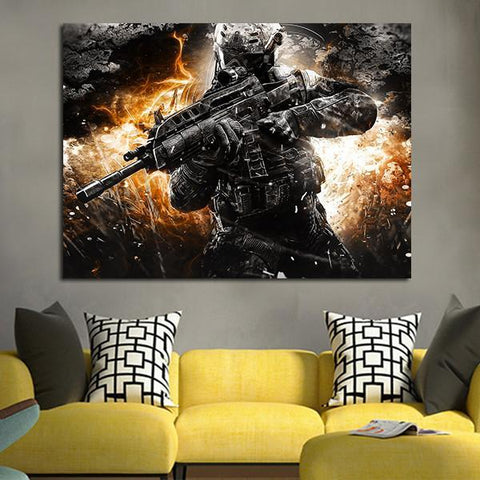 1 Panel Call Of Duty Black Ops II Wall Art Canvas