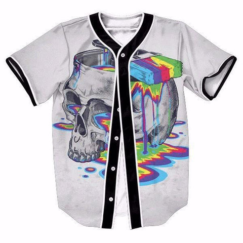 Skull Paint Bucket New Shirts