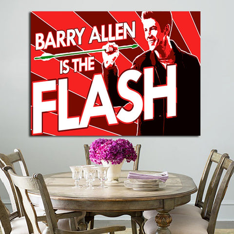 1 Panel Barry Allen Is The Flash Wall Art Canvas
