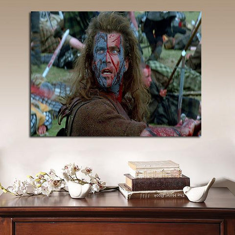 1 Panel Braveheart William Wallace In The Battlefield Wall Art Canvas
