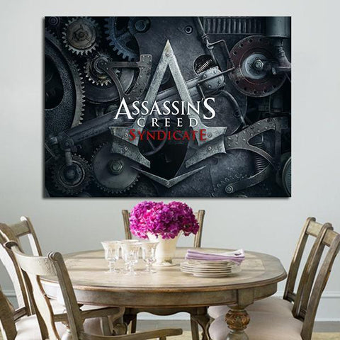 1 Panel Assassin's Creed Syndicate Logo Wall Art Canvas