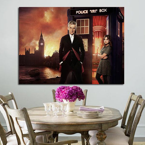 1 Panel Doctor Who Clara And Twelve Wall Art Canvas
