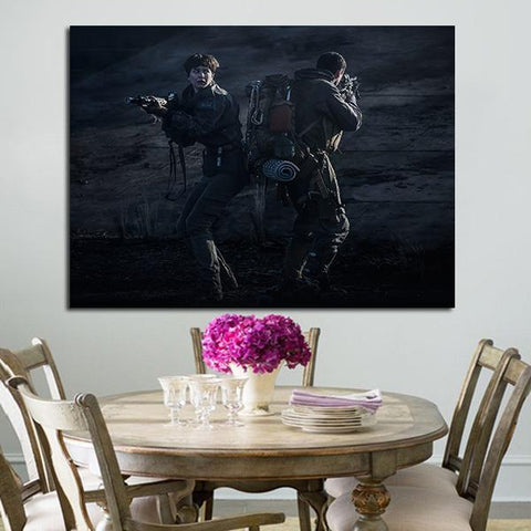 1 Panel Alien Daniels With AR-15s Wall Art Canvas