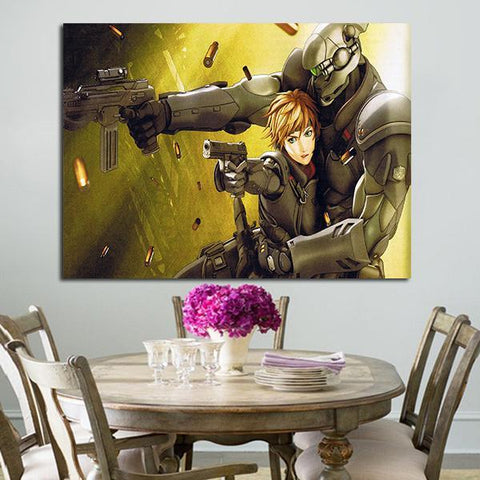 1 Panel Appleseed Deunan Knute And Briareos Hecatonchires Anime Wall Art Canvas