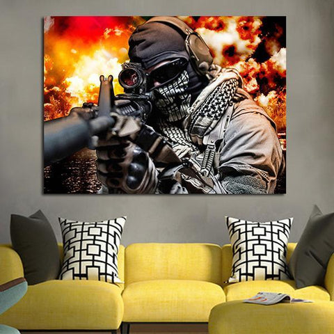 1 Panel Call Of Duty Wall Art Canvas