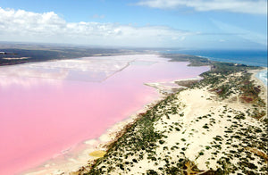 Hutt Lagoon Pink Lake Scenic Flight from Geraldton Perth