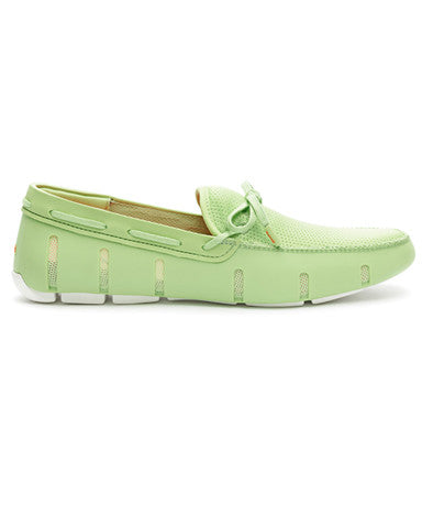 Swims Lace Front Loafer - Green / White