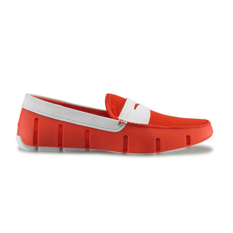 Swims Penny Loafer - Fire / White