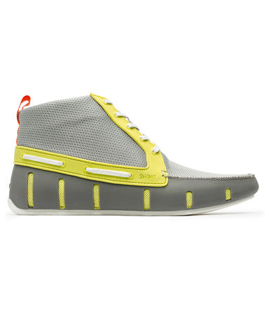 Swims Sport Loafer High Top - Lime/Grey