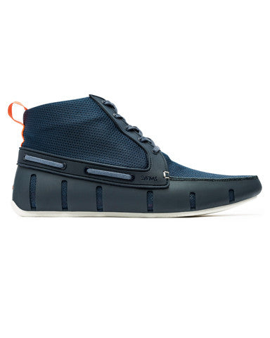 Swims Sport Loafer High Top - Navy/White