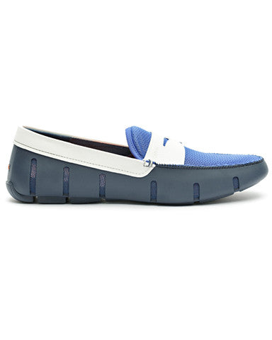 Swims Penny Loafer - Blue / White