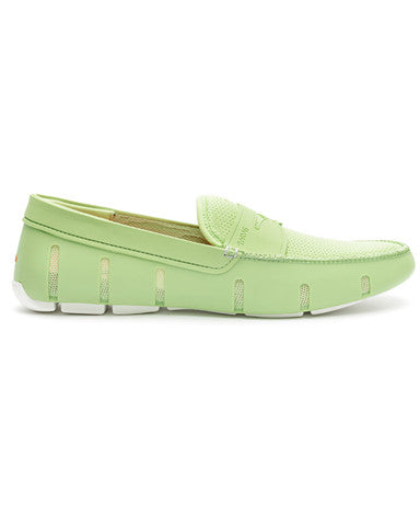 Swims Penny Loafer - Green / White