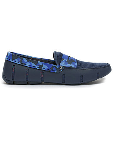 Swims Penny Loafer - Camo Navy / Blue
