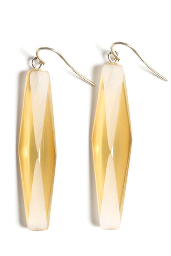 SILVER PLEXIGLASS AMBER ADELE EARRINGS