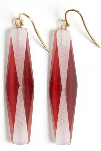 GOLD-PLATED PLEXIGLASS RED ADELE EARRINGS