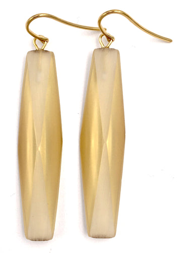 GOLD PLATED PLEXIGLASS AMBER ADELE EARRINGS