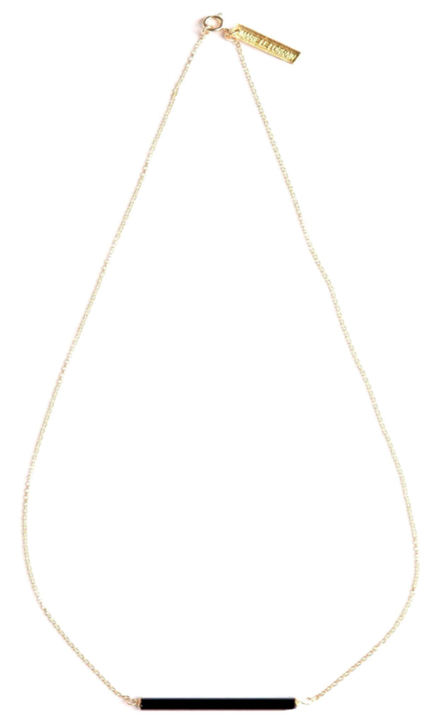 THE BLACK LINE NECKLACE