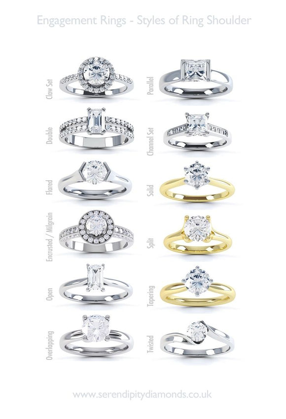 types of engagement ring styles