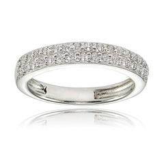 Eternity band ring in sterling silver