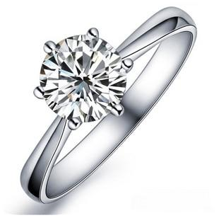 solitaire engagement ring in sterling silver