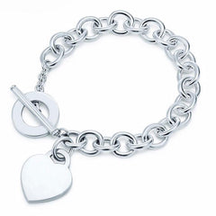 Heart Tag Bracelet in 925 sterling silver