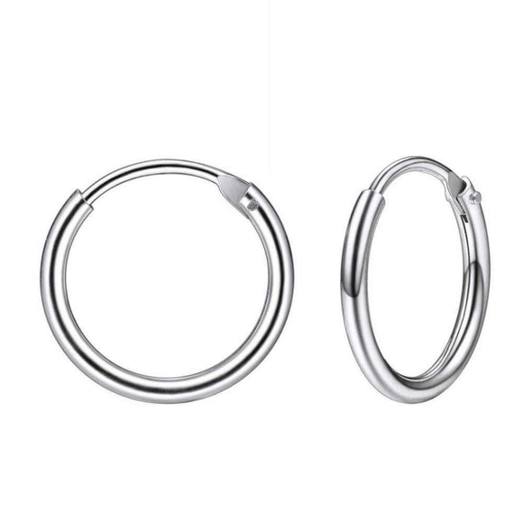 Sleeper Hoop Earrings in 925 Sterling Silver