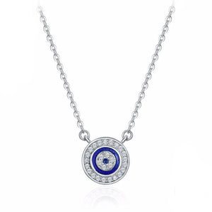 Silver EVIL EYE NECKLACE
