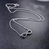 Infinity Necklace in 925 Sterling Silver