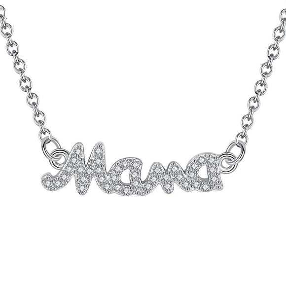Mama Necklace in 925 Sterling Silver
