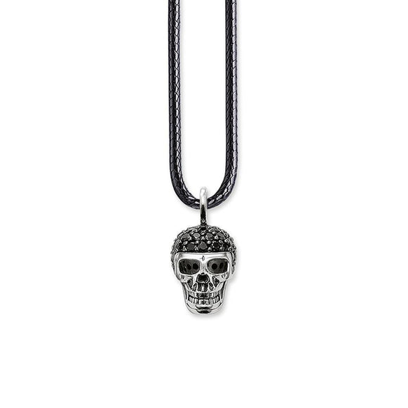 Skull Pendant Leather necklace for Men