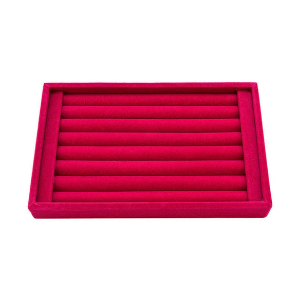 Velvet Jewelry Box Tray for Rings