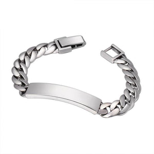 Men's ID Bracelet in 925 Sterling Silver