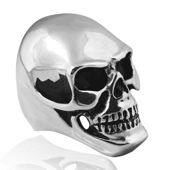 Skull Ring for Men in 316L Stainless Steel