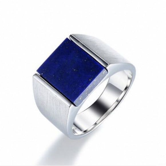 Blue Signet Ring for Men