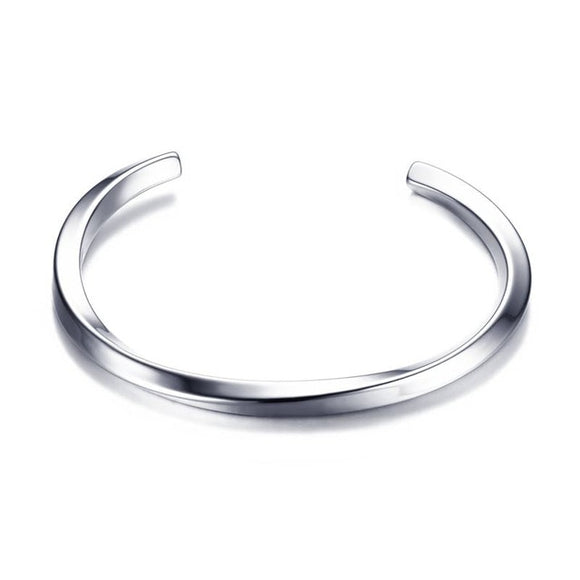 Mens Cuff Bracelet in Stainless Steel