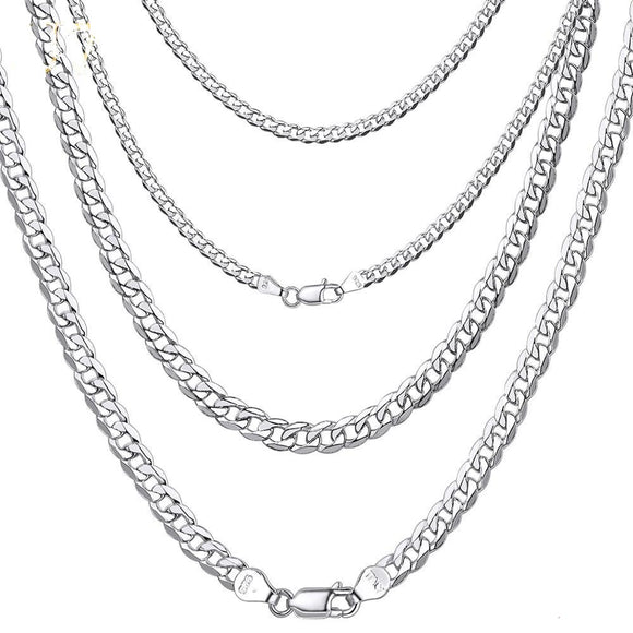 chain necklaces in 925 sterling silver