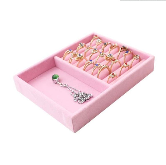 Velvet Display Jewelry Box Trays